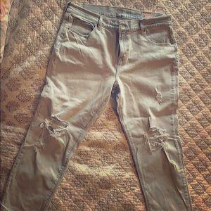 "Old Navy Boyfriend Light wash jeans. ""Cropped""  12"
